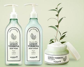 Гель для душа/Лосьон для тела с экстрактом лимонной вербены SKINFOOD Lemon Verbena Body Wash/Lotion, 335мл.
