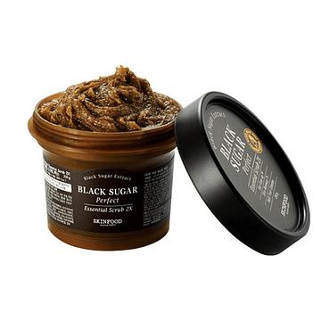 Сахарный скраб-маска SKINFOOD Black Sugar Perfect Essential Scrub 2X, 210гр.