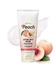 Крем с экстр. персика предназначен для комбинированной и жирной кожи SKINFOOD Premium Peach Cotton juicy Cream, 60мл.