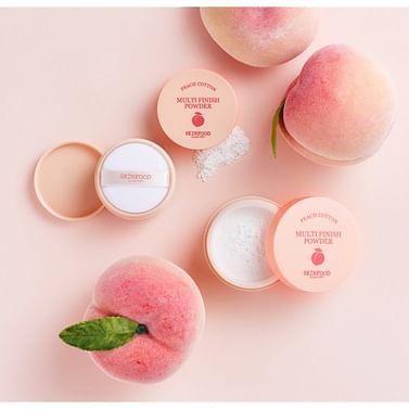 Матирующая рассыпчатая пудра с экстрактом персика SKINFOOD Peach Cotton Multi Finish Powder, 5гр.