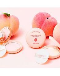 Компактная пудра для маскировки расширенных пор SKINFOOD Peach Cotton Pore Pact, 9гр.
