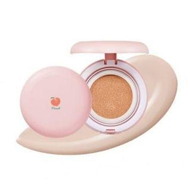 Компактная пудра для маскировки расширенных пор SKINFOOD Peach Cotton Blur Cushion SPF50+PA+++