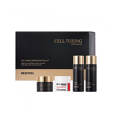 Набор миниатюр восстанавливающих средств MEDI-PEEL Cell Toxing Dermajours Trial Kit, 4 предмета