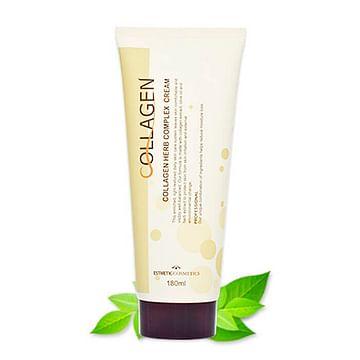 Крем для лица с коллагеном и растительными экстрактами Esthetic House Collagen Herb Complex Cream, 180мл.