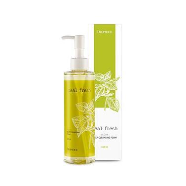 Пенка для глубокого очищения кожи Deoproce Real Fresh Vegan Deep Cleansing Foam, 210мл.