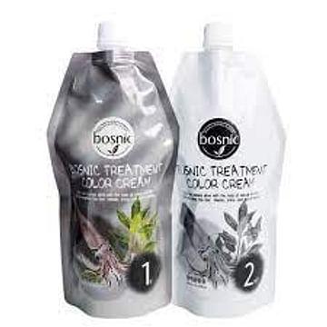 Крем-краска ухаживающая для волос Bosnic Treatment Color Cream, 500+500мл.
