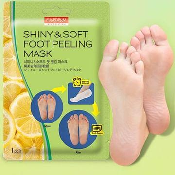 Маска-пилинг для ног PUREDERM Shiny & Soft Foot Peeling Mask, 1 пара