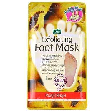 Маска для пилинга ногс экстрактом папайи и ромашки PUREDERM Exfoliating Foot Mask, 1 пара