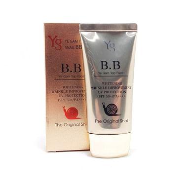 BB крем для лица с улиточным муцином антивозрастной отбеливающий Ye Gam Top Plus BB Cream Ye Gam Top SPF50+, 50мл.