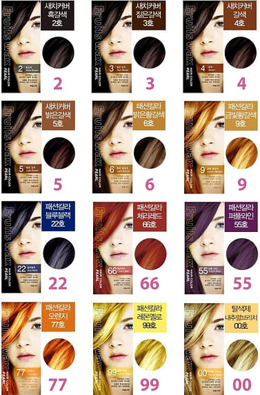 Краска для волос на фруктовой основе №6 (светлый блонд) Welcos Fruits Wax Pearl Hair Color, 60гр.+60мл.
