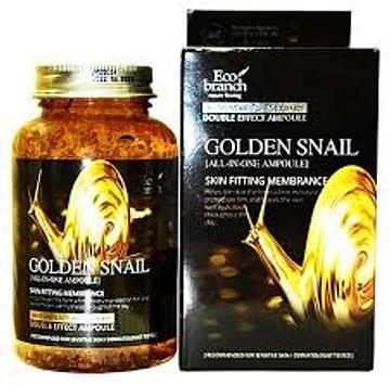 Ампульная сыворотка с муцином золотой улитки Eco branch Golden Snail All-In-One Ampoule, 250мл.