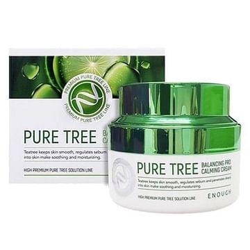 Успокаивающий крем с экстрактом чайного дерева Enough Pure Tree Balancing Pro Calming Cream, 50мл.