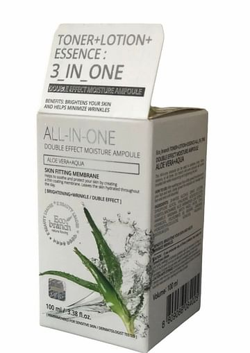 Сыворотка для лица Eco branch 3in1 All-In-One Moisture Ampoule, 100мл. - Алое