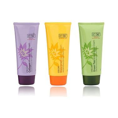 Солнцезащитный крем CELLIO Sun Cream SPF50+PA+++, 70гр. - Коллаген