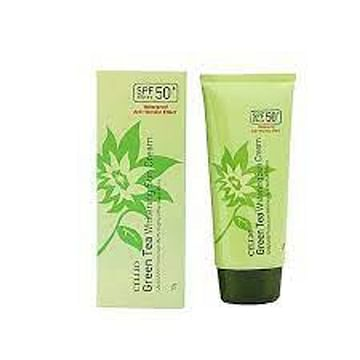 Солнцезащитный крем CELLIO Sun Cream SPF50+PA+++, 70гр. - Зеленый чай