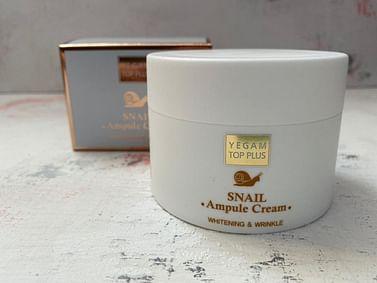 Крем для лица Ye Gam Top Plus Ampule Cream, 80 мл. - Улитка