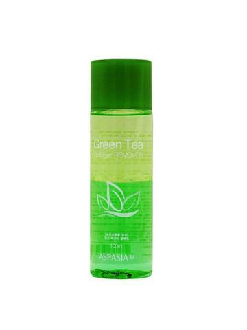 Двухфазная жидкость для снятия макияжа ASPASIA Lip & Eye Remover, 100мл. - Зеленый чай