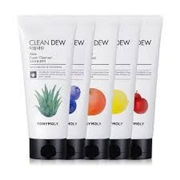 Пенка для очищения кожи лица TONYMOLY Clean Dew Foam Cleanser, 180мл. - Черника