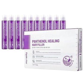 Восстанавливающий филлер для волос с пантенолом Farm Stay Derma Cube Panthenol Healing Hair Filler, 13 мл.