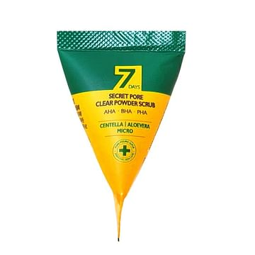 Скраб для глубокого очищения пор с центеллой MAY ISLAND 7 Days Secret Pore Clear Powder Scrub, 5гр.