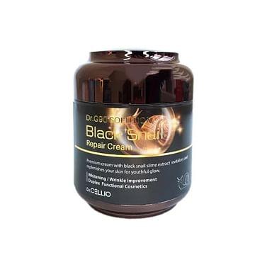 Крем для лица с муцином улитки Dr.CELLIO G90 Solution black snail repair cream, 85 мл.