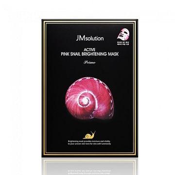 Ультратонкая маска с муцином улитки JMsolution Active Pink Snail Brightening Mask Prime, 1шт./30мл.