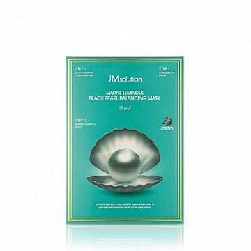 Трёхшаговый набор для сияния кожи JMsolution Marine Luminous Black Pearl Balancing Mask, 1шт./30мл.