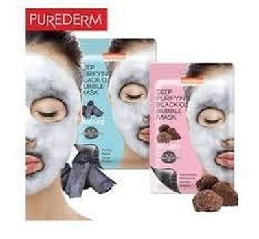 Кислородная маска для лица PUREDERM Deep Purifying Black O2 Bubble Mask, 20гр. - Древесный уголь