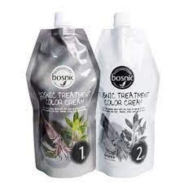 Крем-краска ухаживающая для волос Bosnic Treatment Color Cream, 500+500мл. - Черный