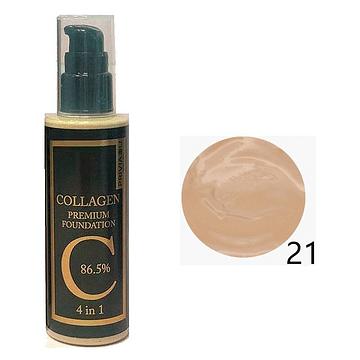 Тональный крем с коллагеном (тон 21) Privia U Collagen Premium Foundation SPF30 PA++ 4 in 1, 100мл.