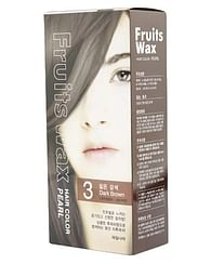 Краска для волос на фруктовой основе №3 (темно-коричневый) Welcos Fruits Wax Pearl Hair Color, 60гр.+60мл.