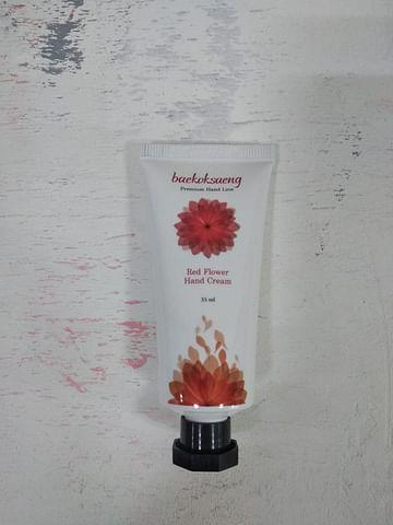 Крем для рук Baekoksaeng Flower hand cream, 35мл. - Red