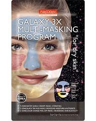 Комбинир. набор масок для сухой кожи PUREDERM Galaxy 3X Multi-Masking Program For Dry Skin, 3*5гр.