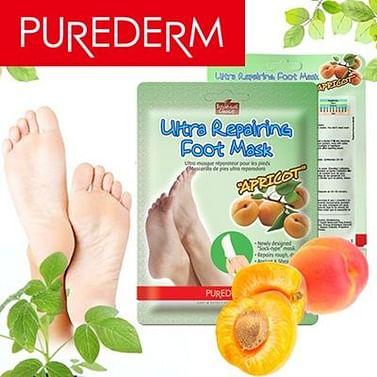 Маска для ног с экстрактом абрикоса PUREDERM Ultra Repairing Foot Mask Apricot, 1 пара
