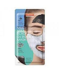 Комбинированная маска с черной глиной и активным кислородом для лица PUREDERM Multi-Area Black O2 Bubble Mask, 1шт.