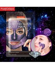 Очищающая подтягивающая маска-пленка ягодный микс PUREDERM Galaxy Diamond Glitter Violet Mask, 10гр.