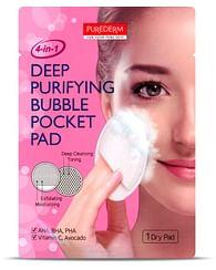 Подушечка (пэд) с пузырьками для глубокого очищения лица PUREDERM Deep Purifying Bubble Pocket Pad, 1шт.