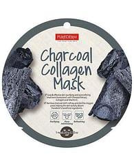 Тканевая маска для лица с коллагеном и древесным углем PUREDERM Charcoal Collagen Mask, 20гр.