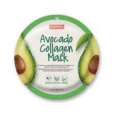 Тканевая маска для лица питательная с авокадо и коллагеном PUREDERM Avocado Collagen Mask, 18гр.