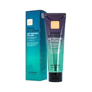 Увлажняющая маска для сияния и блеска волос с коллагеном Farm Stay Shining Silk Repair Hair Treatment Collagen, 150мл.