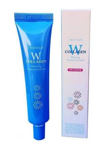 Осветляющий крем для кожи век с морским коллагеном и ниацинамидом Enough W Collagen Eye Cream, 30мл.