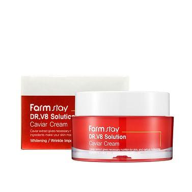 Антивозрастной питательный крем с экстрактом икры Farm Stay Dr.V8 Solution Caviar Cream, 50мл.