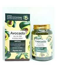 Многофункциональная сыворотка с авокадо Farm Stay Avocado All in One Intensive Moist Ampoule, 250мл.