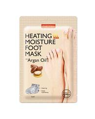 Согревающая увлажняющая маска для ног с аргановым маслом PUREDERM Heating Moisture Foot Mask Argan oil, 1 пара