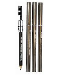 Карандаш для бровей с щеткой для растушевывания Deoproce soft and high quality eyebrow pencil - №21 (Черный)