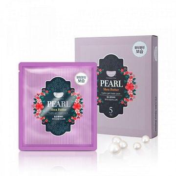 Гидрогелевая маска для лица с маслом ши и жемчужной пудрой Petitfee Pearl & Shea Butter Mask, 30гр/1шт.