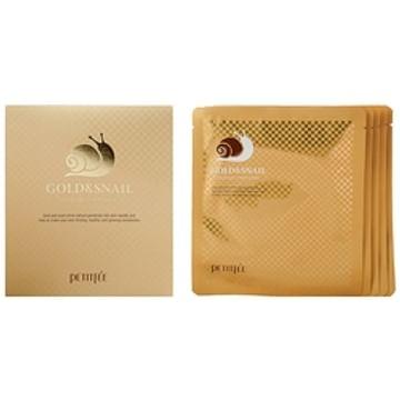 Гидрогелевая маска для лица с золотом и фильтратом улитки Petitfee Gold&snail hydrogel mask pack, 30гр./1шт