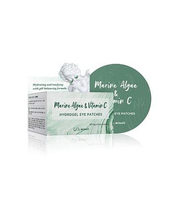 Гидрогелевые патчи для глаз с водорослями и витамином С misoli Marine Algae & Vitamin C Hydrogel Eye Patches, 60шт.