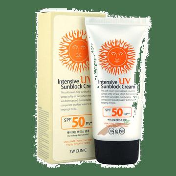 Интенсивный солнцезащитный крем 3W CLINIC Intensive UV Sunblock Cream, 70мл.