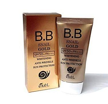 ВВ крем с муцином улитки и золотом Ekel BB Cream Snail gold SPF50+/PA+++, 50мл.